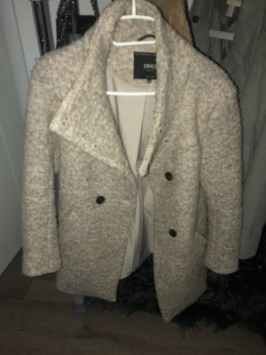 Only Cappotto in lana color oro rosa