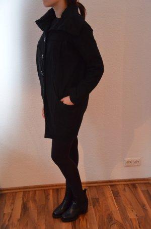 Mantel Oversize Knopfleiste hoher Kragen