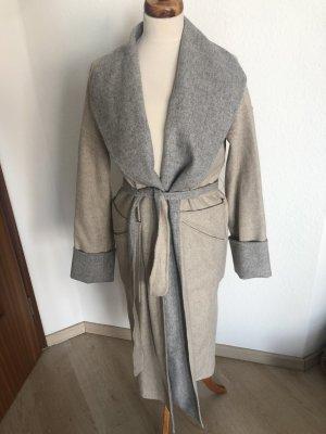 Mantel oversized look nude grau Jacke blogger