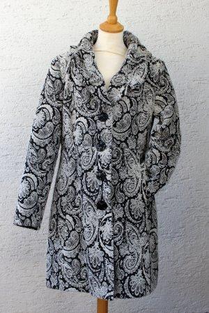 Mantel Paisley Muster grau-schwarz