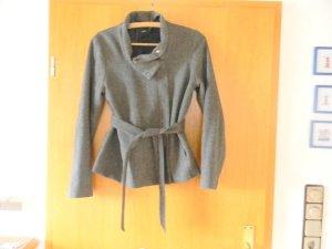 Mantel Parka Trench coat grau meliert Jacke 38