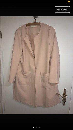 H&M Heavy Pea Coat pink