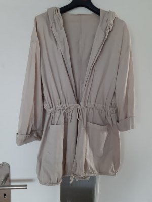 Capuchon jas licht beige