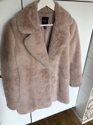 Mantel rosa Plüsch Kunstfell Teddy