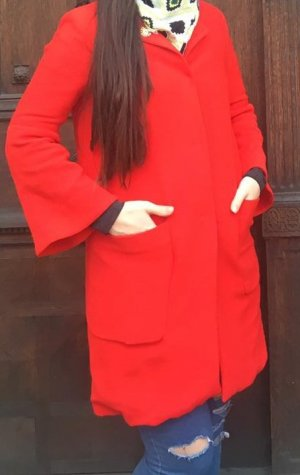 Zara Manteau en tricot rouge