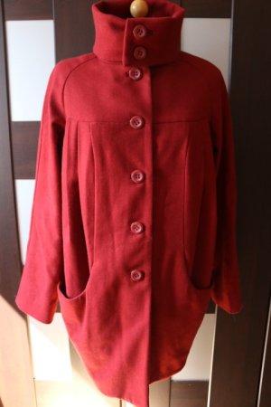 Mantel Rot mit besonderem Schnitt H&M