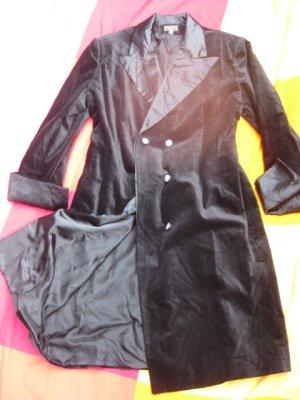 Mantel Samt schwarz, Größe 40/42, Barbara Wood