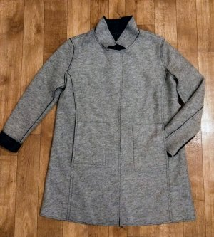 Best Connections Wool Coat black-grey mixture fibre