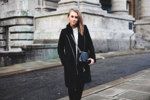 Mantel / Schwarz / Basic / Blogger / Trend