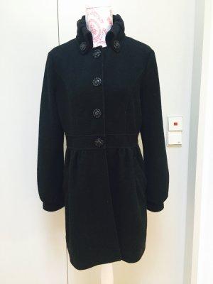 Mantel schwarz designer Joana Danciu