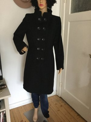 Mantel, schwarz, Doppelreiher