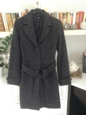 Winterjas zwart-grijs