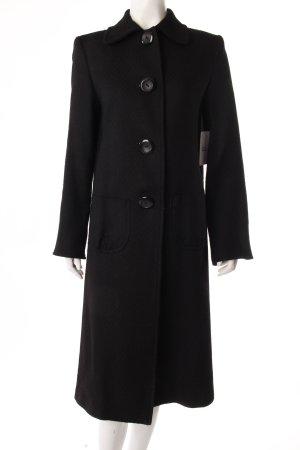 Mantel schwarz große Knöpfe