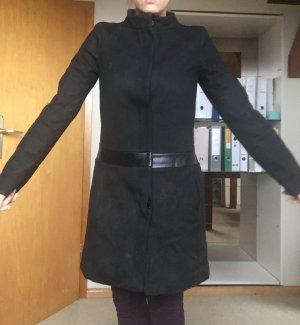 Mantel schwarz Hallhuber Größe 34/36 wolle