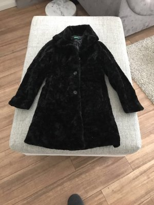 Mantel schwarz Kunstfell wie neu