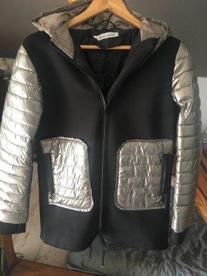 Manteau à capuche noir-bronze