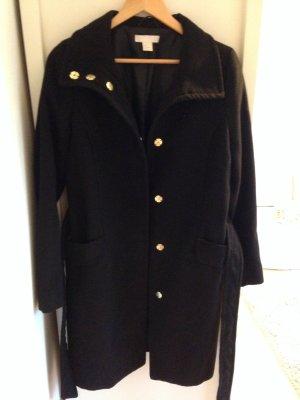 Mantel Schwarz mit Knöpfen