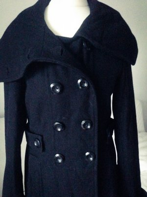 Blend Wool Coat black wool
