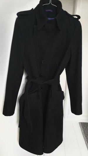 Mantel, schwarz, ungefüttert