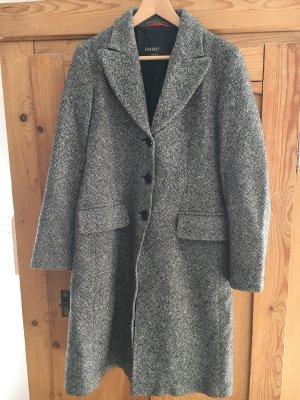 Mantel schwarz/weiß meliert