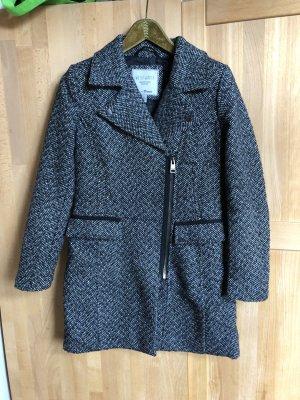 Mantel schwarz-weiß Tom Tailor