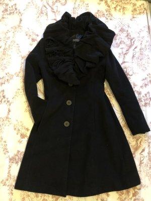 Abrigo de lana negro