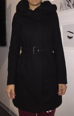 Mantel schwarz Zara Basic