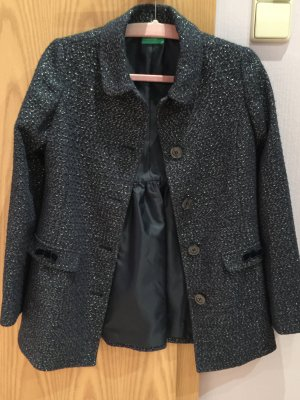 Mantel Silber blau benetton