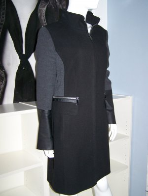 Mantel TAIFUN , Gr.: 44, Schwarz / Grau