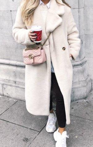 Mantel Teddy Faux Fur Hellbeige H&M Blogger Liebling Gr. 42