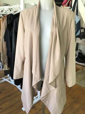 Abrigo corto beige tejido mezclado