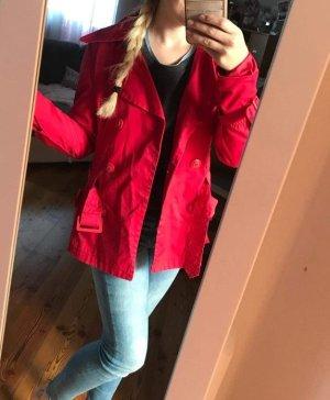 Vero Moda Abrigo corto rojo-rojo oscuro