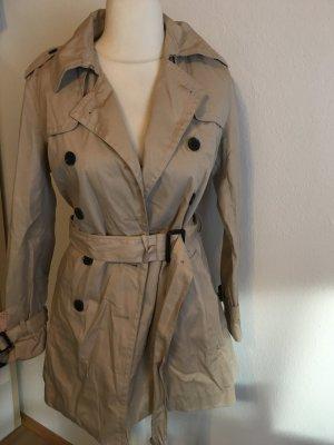 Mantel Trenchcoat beige Jacke mit Gürtel Gr. S