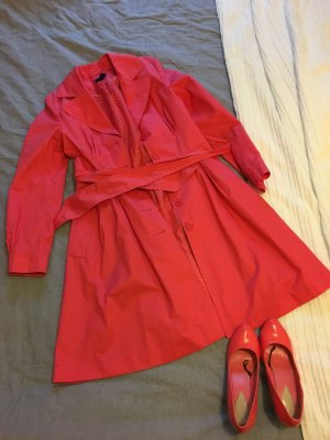 Mantel/Trenchcoat in Koralle Gr. 38 H&M+passende Pumps Gr 39