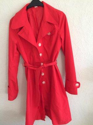 Mantel Trenchcoat Rot Frühling