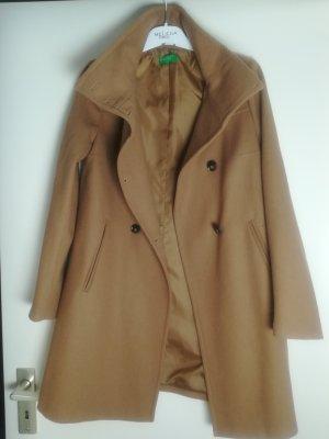 United Colors of Benetton Cappotto in lana marrone chiaro