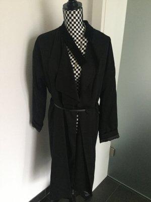 Mantel von AllSaints in Gr. 40 schwarz, Trenchcoat