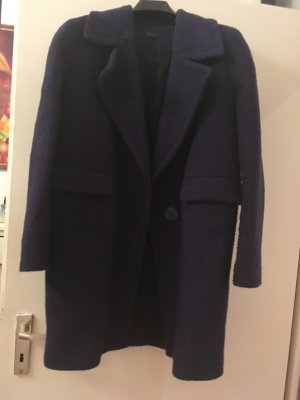 Benetton Cappotto in lana blu scuro