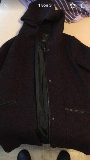 C&A Cappotto in lana marrone-rosso