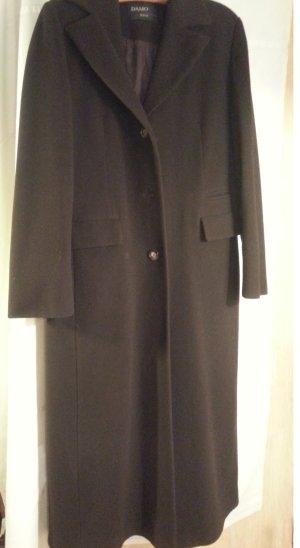 Damo Wool Coat dark brown wool