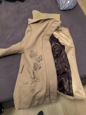 Desigual Abrigo corto beige-crema