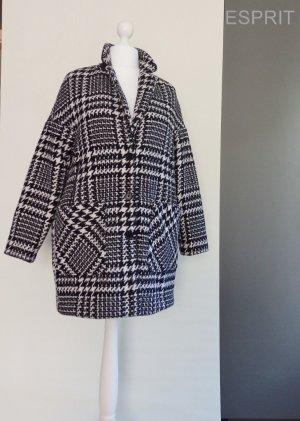 Mantel von *Esprit*, Schwarz-Weiß, Gr.42
