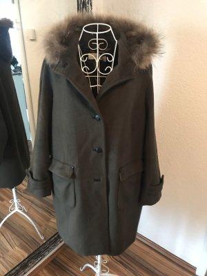 Gerard darel Hooded Coat khaki