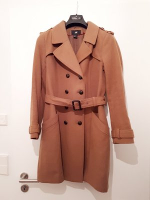 H&M Abrigo marrón-marrón oscuro