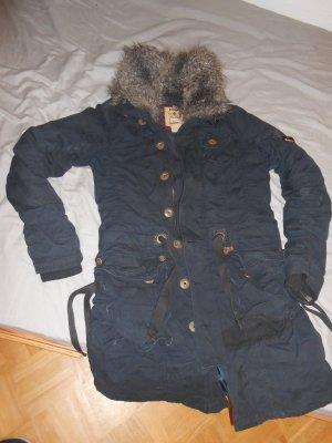 Mantel von Khujo mit Kunstfellkragen, Gr. XL