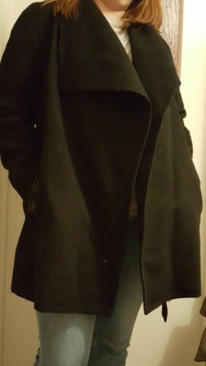 Mango Wollen jas zwart