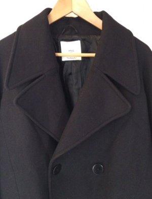 Mango Suit Wool Coat black