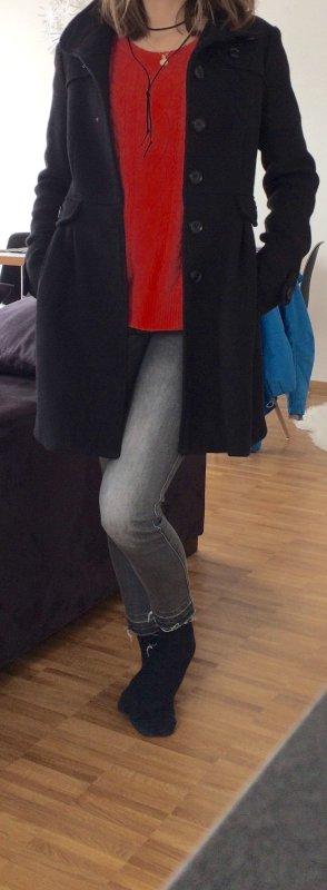 Mango Manteau d'hiver noir