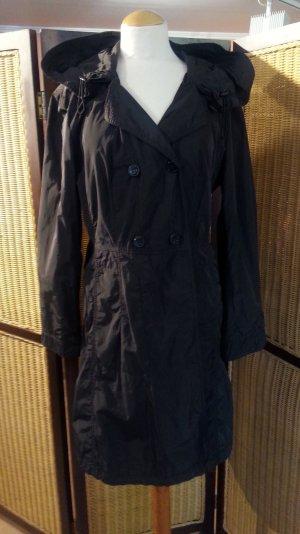 Marc Aurel Manteau à capuche brun noir polyester