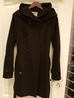 Only Hooded Coat black